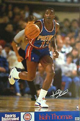 Isiah Thomas Pistons 1990 Sports Illustrated mini poster