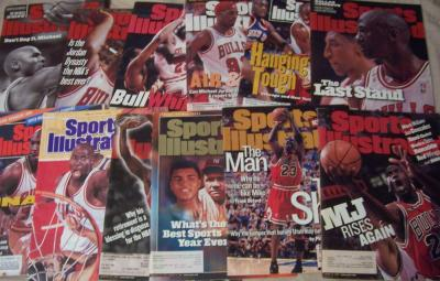 Michael Jordan lot of 12 different Sports Illustrated issues