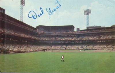 Dick Groat autographed Pittsburgh Pirates early 1960s Forbes Field postcard