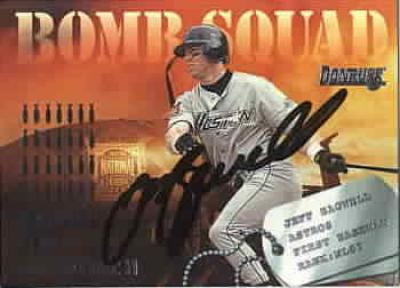 Jeff Bagwell autographed Houston Astros 1995 Donruss Bomb Squad card