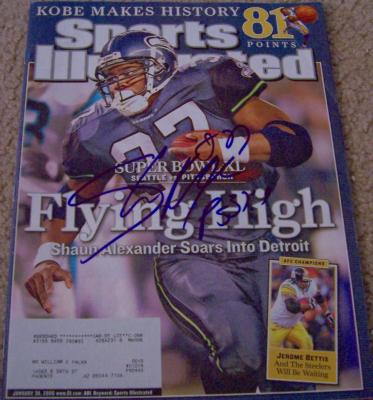 Shaun Alexander autographed Seattle Seahawks 2006 Sports Illustrated