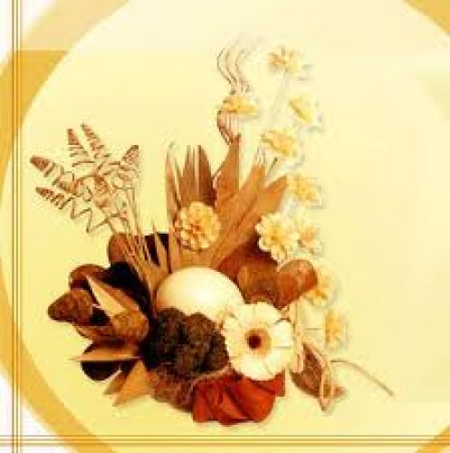 Crafts; Handmade Dried Flowers decor
