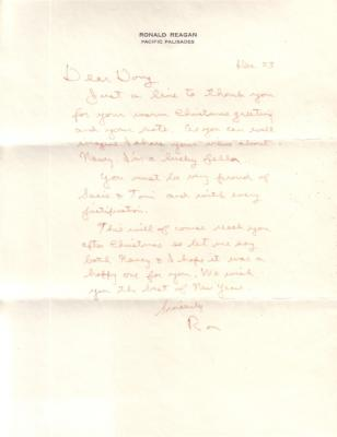 Ronald Reagan autographed handwritten 1979 personal letter with envelope