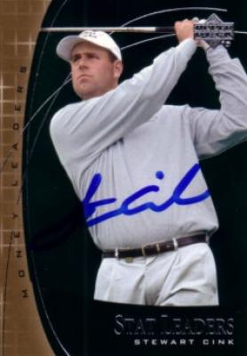 Stewart Cink autographed 2001 Upper Deck golf card