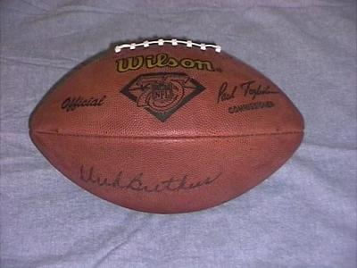 Dick Butkus autographed NFL 75th anniversary football