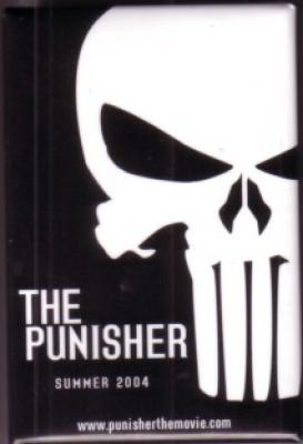 The Punisher movie promo button or pin