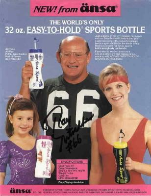 Ray Nitschke autographed Green Bay Packers magazine ad