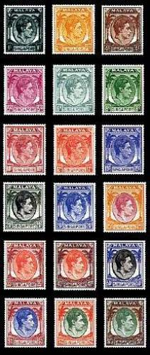 Definitives 18v; Year:  1952
