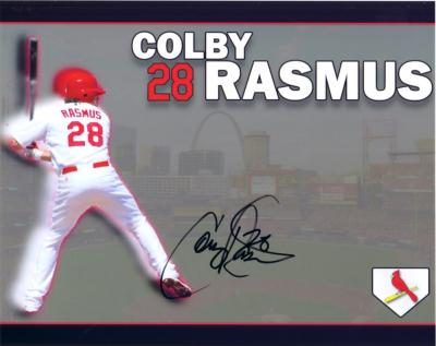 Colby Rasmus autographed St. Louis Cardinals 8x10 photo