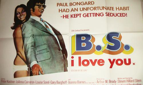 BS I LOVE YOU UK Quad Poster 1971 PETER KASTNER