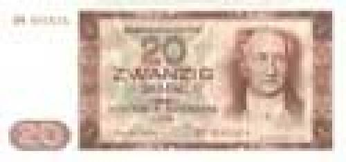 German Democratic Republic; 20 Mark; Issue of 1964