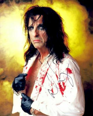 Alice Cooper autographed 8x10 photo