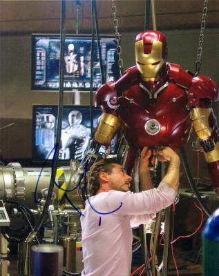 Robert Downey Jr. autographed Iron Man 8x10 photo