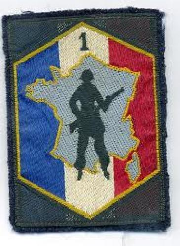 Militaria; 1st Military region-France; Badge