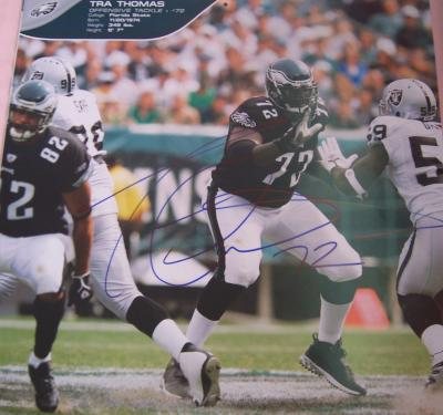 Tra (William) Thomas autographed Philadelphia Eagles calendar page