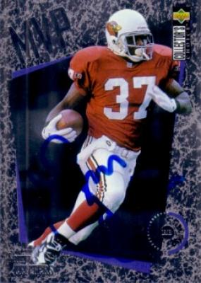 Larry Centers autographed Arizona Cardinals 1996 Collector's Choice card