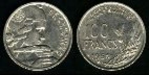 100 francs; Year: 1954-1958; (km 919.2)