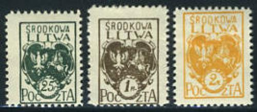 Central Lithuania, definitives 3v; Year: 1921