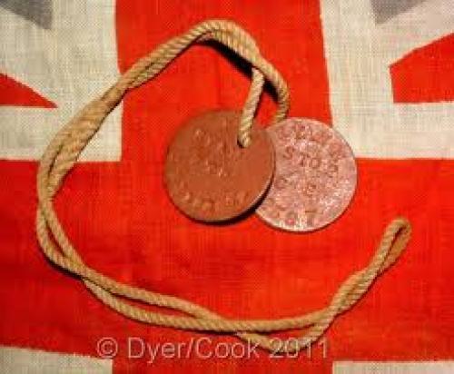 Militaria; WW1 ROYAL NAVAL DOG TAGS TO N RYAN STOKER 2ND CLASS