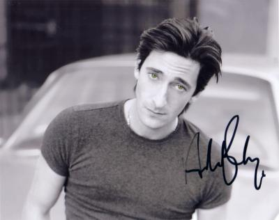 Adrien Brody autographed 8x10 black &amp; white photo