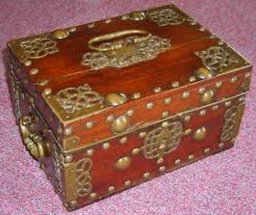Cash box; Antique