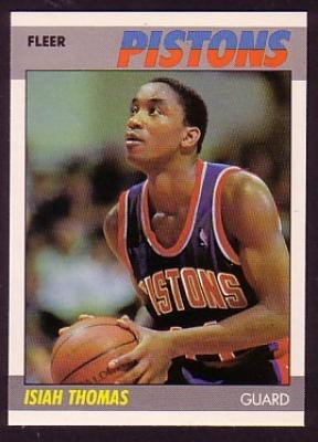 Isiah Thomas 1987-88 Fleer basketball second year card