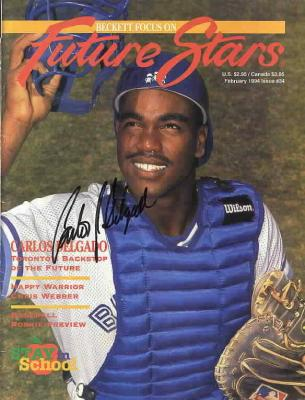 Carlos Delgado autographed Toronto Blue Jays Beckett cover