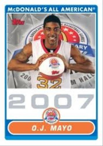 Basketball Card; O.J Mayo; Topps Issues McDonald's All American Cards