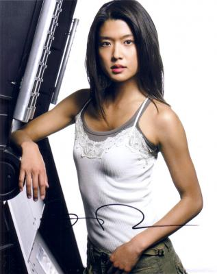 Grace Park autographed Battlestar Galactica 8x10 photo
