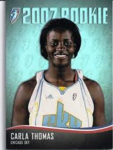 Basketball Card; Rookie 2007; Carla Thomas; 2007 WNBA WOMENS BASKETBALL