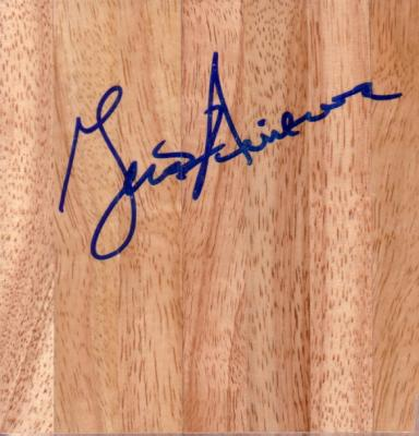 Geno Auriemma (UConn) autographed 6x6 basketball hardwood floor