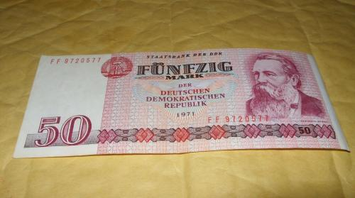 German Democratic Republic 50 mark 1971