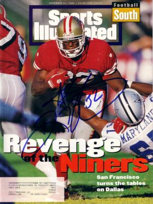 Ricky Watters autographed 49ers 1994 Sports Illustrated
