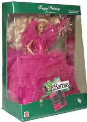 Dolls; Happy Holiday Barbie Doll 1990. December 27