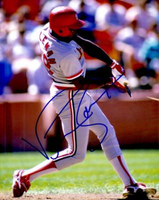 Vince Coleman autographed St. Louis Cardinals 8x10 photo
