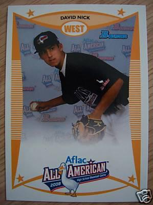 David Nick 2008 AFLAC Bowman Rookie Card