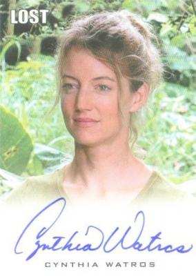 Cynthia Watros LOST certified autograph card