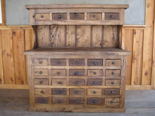 Reclaimed Multi-Drawer Hutch