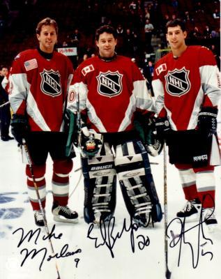 Mike Modano Ed Belfour Darryl Sydor autographed Dallas Stars 1998 NHL All-Star Game 8x10 photo