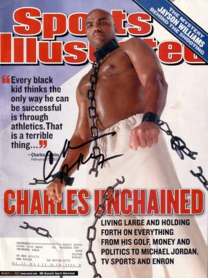 Charles Barkley autographed 2002 Sports Illustrated