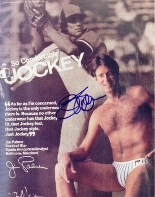 Jim Palmer autographed Jockey Underwear ad 8x10 photo