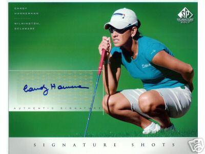 Candy Hannemann (LPGA) certified autograph 2004 SP Signature Golf 8x10 photo card
