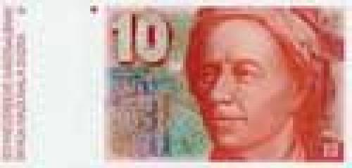 10 Swiss francs; Older banknotes (1975-1993)