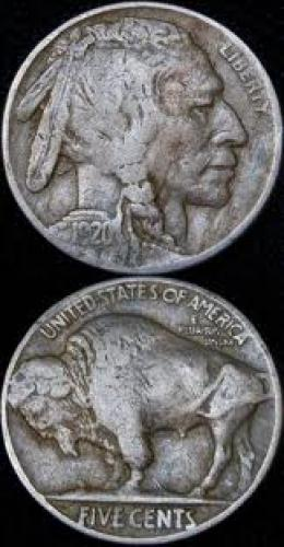 Coins; USA coin; 1920 Buffalo NICKEL. US 5 CENTS
