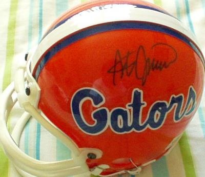Steve Spurrier autographed Florida Gators mini helmet