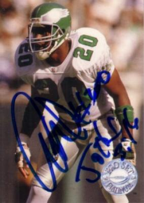 Andre Waters autographed Philadelphia Eagles 1991 Pro Set Platinum card