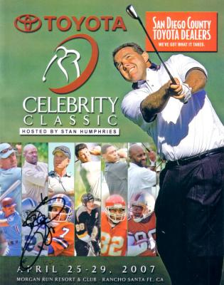 Emmitt Smith autographed 2007 Celebrity Golf program