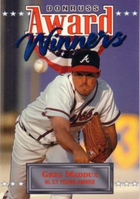 Greg Maddux 1994 Donruss Award Winners jumbo card (#/10000)