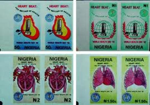 Nigeria issued a set of four stamps; two depicting a sphygmomanometer