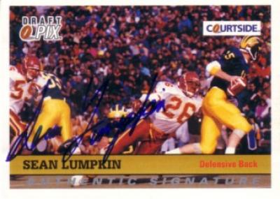 Sean Lumpkin Minnesota certified autograph 1992 Courtside card